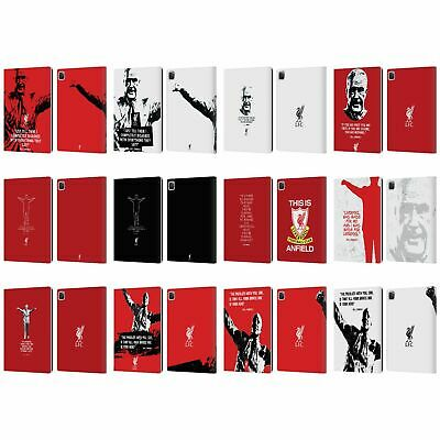 LIVERPOOL FC LFC BILL SHANKLY QUOTES PU LEATHER BOOK WALLET CASE FOR APPLE iPAD