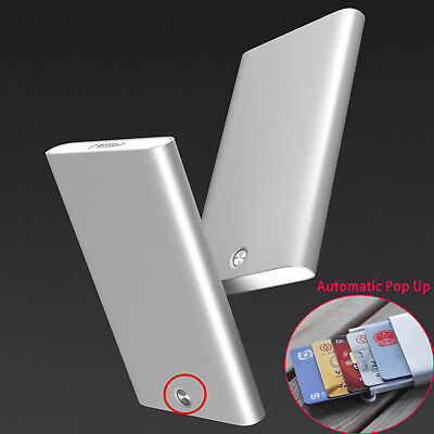 Xiaomi Men Aluminum Automatic Slim Wallet Business Credit Card ID Card Holder