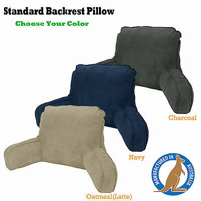 3 Color Choice Micro Suede Standard Backrest Reading Pillow MADE IN AUSTRALIA