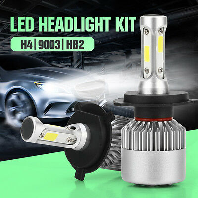 2x 100W 10000LM H4 Hi/Low Beam Car LED Headlight Bulb Conversion Kit 6000K White