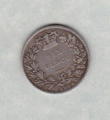 1834 William Iv Sixpence In Good Fine Condition