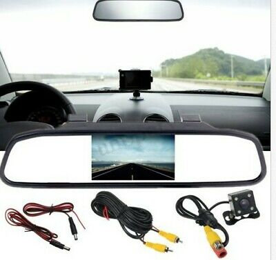 4.3'' TFT LCD Car Rear View Monitor Mirror & Backup Reversing Cam Camera Kit