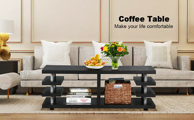 Coffee Table End Rectangular Table Living Room Storage Shelf Modern Organizer
