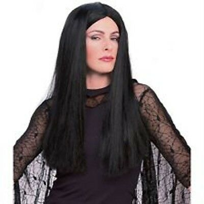 Womens Adult THE ADDAMS FAMILY Morticia Costume Wig