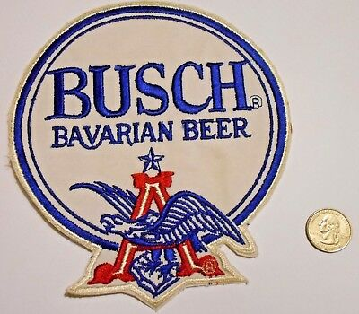"""Busch Bavarian Beer Patch Embroidered Ale 7-3/4"""" inch  Eagle"""