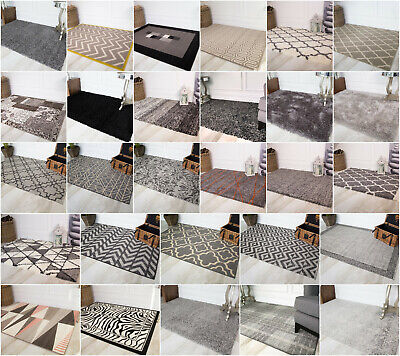 Black Grey Rugs Small Extra Large Big Huge Monochrome Soft Mats Living Room Rugs