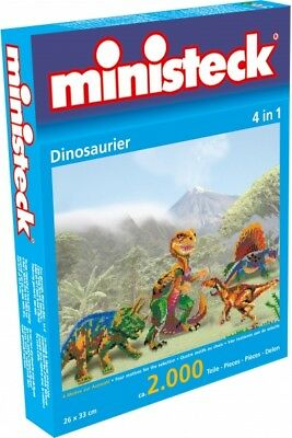 ministeck - Dinosaurier 4in1, ca. 2.000 Teile, Neu, OVP, 31799