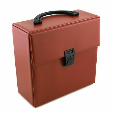 """Covers 33 Retro Style 7"""" 45 Vinyl Record Carrying Case 25 (red)"""