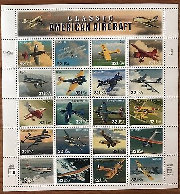 US Stamps Classic American Aircraft 32 Cent