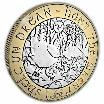 "Isle of Man 2018 Christmas ""Hunt the Wren"" £2 Unc. Bi-Metal Coin"