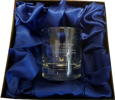 Whisky Glass personalised engraved in luxury gift box for wedding ,birthday etc