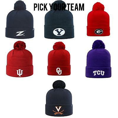 hot sale online fb72e 9fb25 Official NCAA Cuffed Knit TOW Pom Beanie by Top of the World