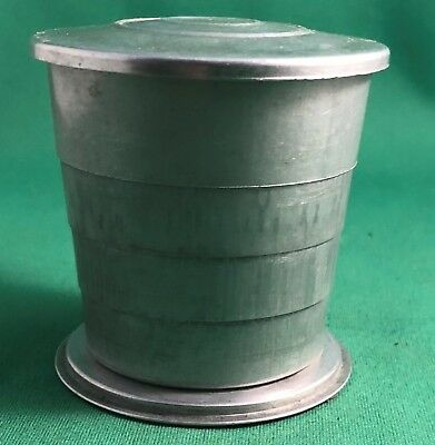 """Vintage Collapsible 2-5/8"""" Aluminum Cup with Lid"""
