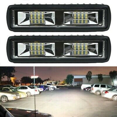 2x 48W 12V 16 LED Work Light Spot Beam Bar Car SUV Off-Road Driving Fog Lamp New