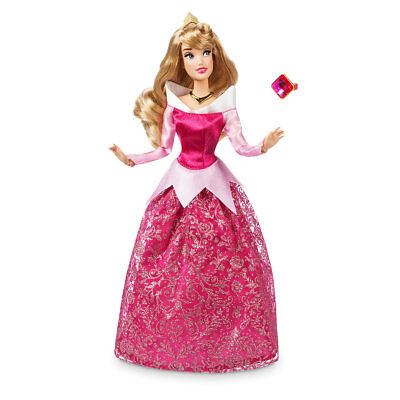 """Disney Authentic Aurora Classic Doll with Ring Sleeping Beauty Size 11 1/2"""" BN"""
