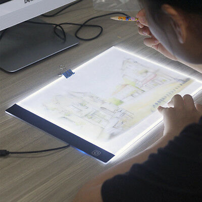 A3/A4 LED Light Graphic Tablet Drawing Board Panel Stencil Tracing Pad Display