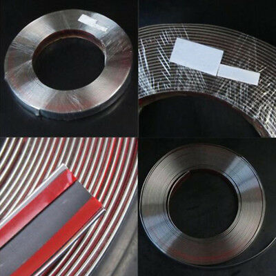 15M/6mm Chrome Self Adhesive Car SUV Edge Styling Moulding Trim Strip Protector