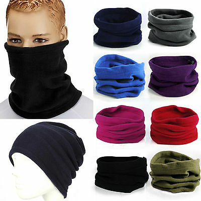 Men Women Snood Scarf Ski Balaclava Neck Winter Warmer Face Mask Beanie Hat Cap