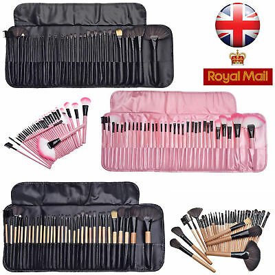 NEW Professional 32 Pcs Kabuki Make Up Brush Set and Cosmetic Brushes Case UK
