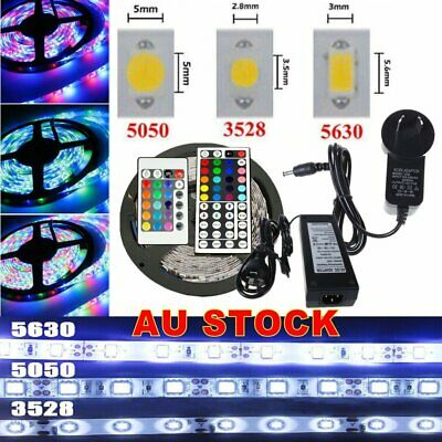 5M-50M 3528/5050/5630 SMD Waterproof White RGB LED Flexible Strip Light DC 12V