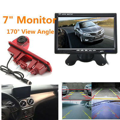 Rear View Parking Reverse Camera Brake Light + 7'' Monitor For Renault Trafic