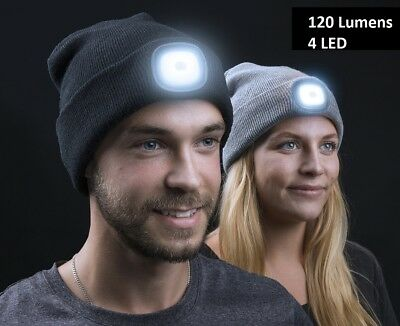 Winter Wear Unisex LED Beanie Hat Knitted Cap Battery Operated Head Lamp Light