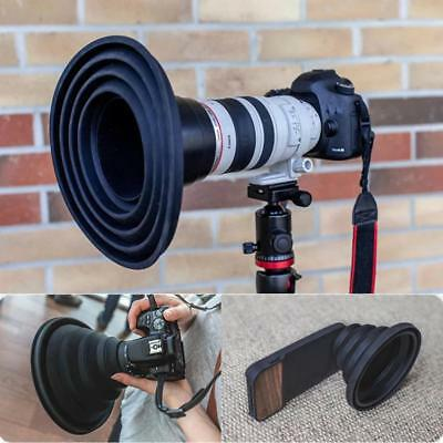 Reflection-free Collapsible Silicone Photography Lens Hood for Camera Phone