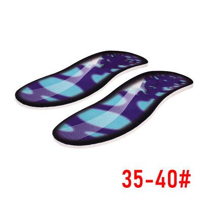 2x3D Orthotic Flat Feet Foot High Arch Gel Heel Support Shoe Insert /Insoles Pad