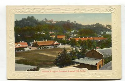 Kasouli Hill - Institute & Depot Barracks - old India postcard