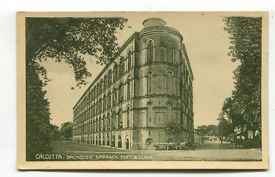 Calcutta - Dalhousie Barrack, Fort William - old India postcard