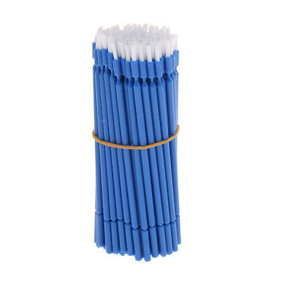 100 Pcs Blue Dental Disposable Micro Applicator Brush, Practical