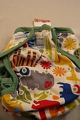 MADE IN USA-NEW KISSA'S  PRINT 1 SZ. CLOTH DIAPER COVER-8-40 Pounds
