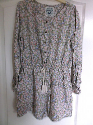 Mantaray Girls Long Sleeve Floral Playsuit age 11 years