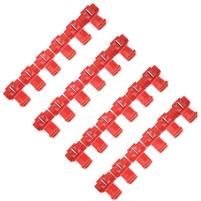 Scotch Lock / Snap Connector Set Red Plastic Consumable Fastener