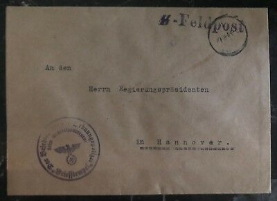 1941 General Government Poland Germany Cover Waffen SS Feldpost To Hannover