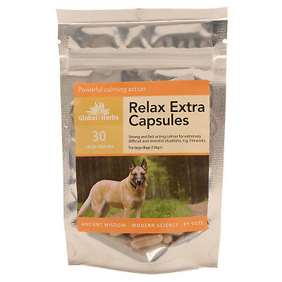 Global Herbs Relax Extra Capsules For Large Dogs