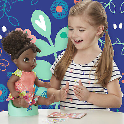 Baby Alive Potty Dance Exclusive Value Pack (Black Curly Hair) Baby Doll Pack