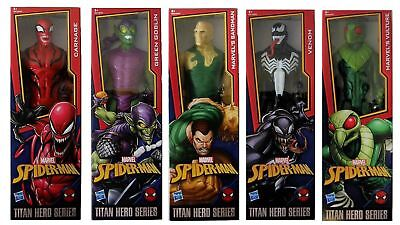 "Marvel Action Figures Titan Hero Series 12"" spiderman villains from movies New"