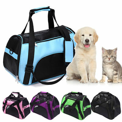 Large Pet Dog* Cat Portable Travel Carry Carrier Tote Cage Bag Crates Box Holder