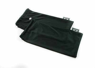 Oakley 2 Pack - Large Black Micro Fiber Cloth Sunglasses Cleaning Storage Bags
