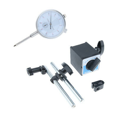 Set of 0-25mm Precise Dial Indicator Gauge & 353lbs Heavy-duty Magnetic Base