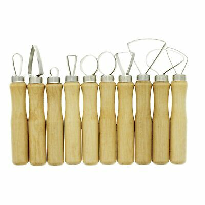 U.S. Art Supply 10-Piece Pottery & Clay Sculpting Carving Tool Set