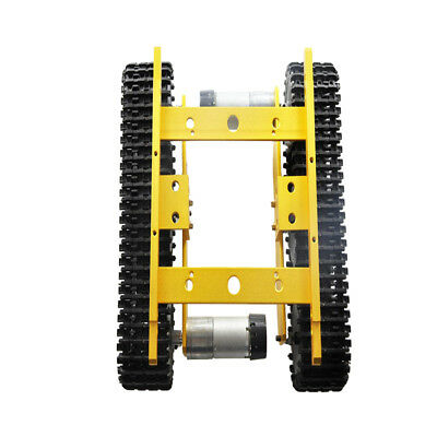 Alloy Robot Tank Crawler Chassis For Arduino Smart Car with Code Wheel NEW