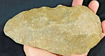 A HUGE! Million Year Old Early Stone Age ACHEULEAN HandAxe Mauritania 777gr e