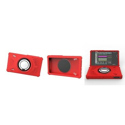 3Piece LA104 Logical Analyzers Protective Silicone Case Cover with Ring, Red