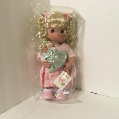 Precious Moments 4595 TEACH ME THE WAY 12in Vinyl Blonde Doll with Bible & Dolly