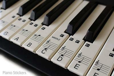 Music Keyboard for 61 KEY SET Piano learn to play faster LAMINATED clear plastic