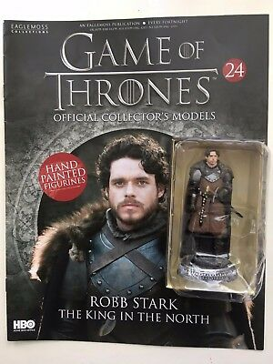 Game Of Thrones Issue 24 Robb Stark Eaglemoss Figurine Figure Collector's Model
