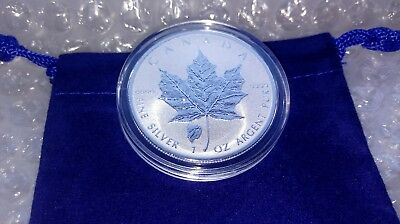 2018 Reverse Proof 1 oz Fine Silver .9999 Canadian Bison Privy Maple Leaf Coin