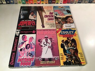 * Blaxploitation VHS Lot of 6 The Mack Cooley High Detroit 9000 Christie Love +